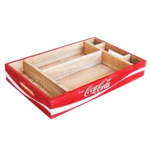 コカコーラ ウッドクレート デスクオーガナイザートレイ /COCA-COLA BRAND/木箱・収納/インテリア/アメリカン雑貨/|colour