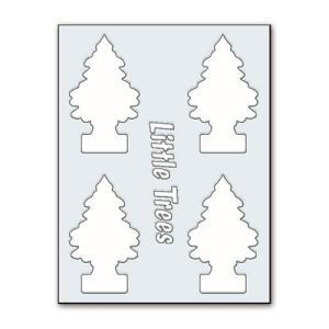 転写シール リトルツリー カットアウトステッカー SET-2 ホワイト Little Trees 蒔絵シール アメリカ雑貨 アメリカン雑貨|colour