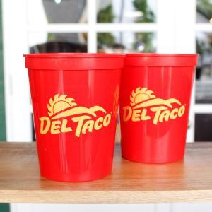 プラカップ DELTACO デルタコ 2個パック 高さ11cm 473ml 16オンス プラスチック製コップ アウトドア タコス アメリカ雑貨 アメリカン雑貨 colour