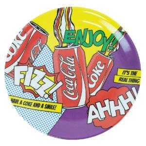 お皿 食器 コカ・コーラ メラミン プレート POP ART Lサイズ 直径27cm ディナープレート COCA-COLA アウトドア アメリカ雑貨|colour