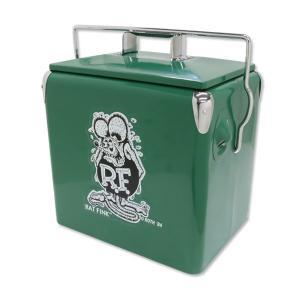 クーラーボックス Rat Fink ラットフィンク レトロ クーラーボックス(グリーン) アウトドアグッズ キャンプ BBQ アメリカ雑貨 colour