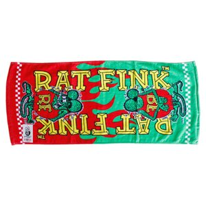 フェイスタオル Rat Fink ラットフィンク レッド×グリーン STPRF003 34×80cm 綿100% スポーツ アメリカ雑貨 アメリカン雑貨|colour