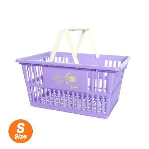 マーケットバスケット Sサイズ ベティブープ:パープル かご バスケット 買い物 収納 マイバスケット アメリカ雑貨 アメリカン雑貨|colour