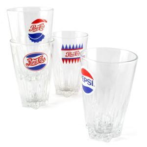 グラス ペプシ レトロタンブラー 300ml 4種セット PEPSI コップ ガラス製 アメリカ雑貨|colour