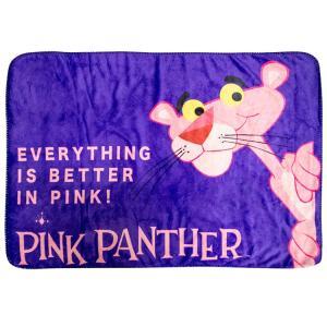ボアブランケット ピンクパンサー パープル PP-PLフリース 毛布 ひざ掛け アメリカ雑貨 アメリカン雑貨|colour