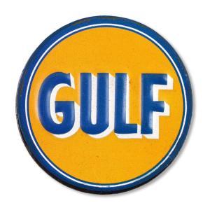 USエンボスマグネット GULF/ガルフ φ5.7cm 磁石 冷蔵庫マグネット ステーショナリー アメリカ雑貨|colour