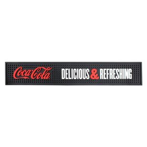 バーマット コカ・コーラ グラフィック Coca-Cola DELICIOUS & REFRESHING ブラック CC406 バーグッズ キッチン雑貨 アメリカ雑貨 colour