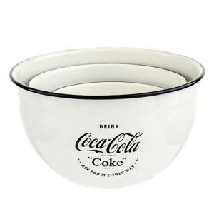 ミキシングボール コカ・コーラ エナメル ミキシングボール 3個セット Coca-Cola 400803 琺瑯 ホウロウ キッチン雑貨 アメリカ雑貨|colour