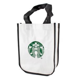 エコバッグ STARBUCKS スターバックス ロゴ ホワイト 北米スタバグッズ ランチバッグ ギフトバッグ 雑貨小物 アメリカ雑貨|colour