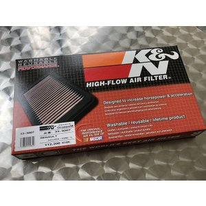 K&N REPLACEMENT FILTER RENAULT CLIO/LUTECIA   RS 1.6 TURBO(RM5M/RM5M1) ルノールーテシアRS用純正交換エアフィルター colt-speed