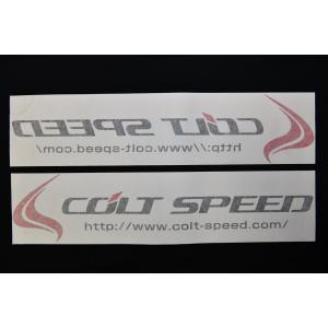 コルトスピード (COLT SPEED) コルトスピード・ステッカー:デモカースペック ブラック 2枚セット(正文字・鏡文字の各1枚)|colt-speed