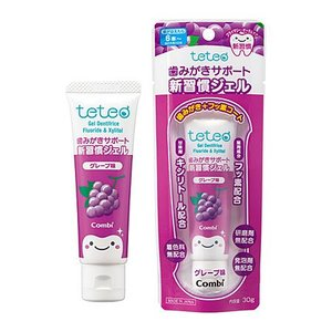 【22%OFF】テテオ はじめて歯みがきサポート新習慣ジェル / グレープ味 teteo combistyle