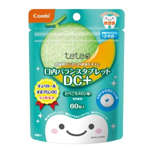 テテオ 乳歯期からお口の健康を考えた 口内バランスタブレット DC+ / たべごろメロン味|combistyle