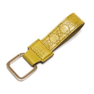 グッチ キーリング 199919-7308 キーホルダー ループキーリング ゴールド角金具 マイクログッチッシマ イエロー|come