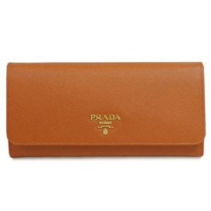 b35dfdf2fc90 プラダ 財布 1MH132 ファスナー長札 パスケース付 後F付きポケット サッフィアーノ PAPAYA パパヤ カーフパパイアオレンジ アウトレット