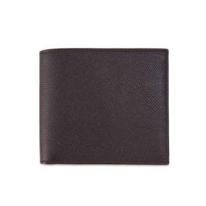 ブルガリ 財布 20815 メンズ 二折り小銭付き財布 ロゴ グレインレザー チョコレート|come