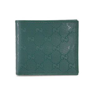 グッチ 財布 224124-3125 メンズ 二つ折り 札入れ パスケース付き GGインプリメ グリーン |come