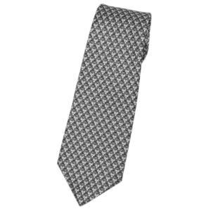 ブルガリ ネクタイ 241210 BVLGARI メンズ アニマルプリント キツネとネコ グリーングレー/ホワイト/ブラック 紙袋付き|come
