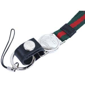 グッチ 携帯ストラップ 269354-8476 アウトレット ネックストラップ FIAT 500 BY GUCCI ウェビング レッドxグリーン|come