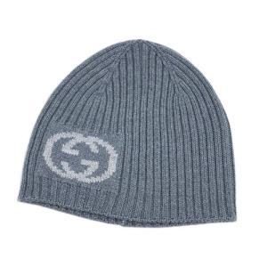 グッチ 帽子 270501-1463 ニットキャップ ダブルG ウール100% ライトグレー/ホワイト|come