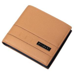 ブルガリ 財布 282827 メンズ 二つ折り小銭付き財布 BVLGARI BVCKLE カーフ ゴールデンアンバーxデニムサファイア|come|02