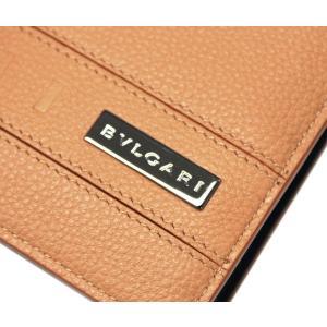 ブルガリ 財布 282827 メンズ 二つ折り小銭付き財布 BVLGARI BVCKLE カーフ ゴールデンアンバーxデニムサファイア|come|03