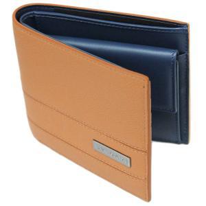 ブルガリ 財布 282827 メンズ 二つ折り小銭付き財布 BVLGARI BVCKLE カーフ ゴールデンアンバーxデニムサファイア|come|04