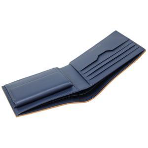 ブルガリ 財布 282827 メンズ 二つ折り小銭付き財布 BVLGARI BVCKLE カーフ ゴールデンアンバーxデニムサファイア|come|05