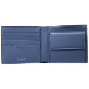 ブルガリ 財布 282827 メンズ 二つ折り小銭付き財布 BVLGARI BVCKLE カーフ ゴールデンアンバーxデニムサファイア|come|07