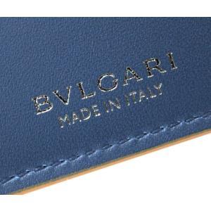 ブルガリ 財布 282827 メンズ 二つ折り小銭付き財布 BVLGARI BVCKLE カーフ ゴールデンアンバーxデニムサファイア|come|08
