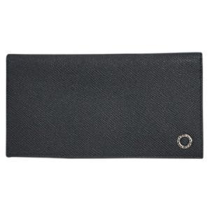 ブルガリ 財布 30398 メンズ ファスナー長札 長財布 7枚カード ブルガリブルガリ グレインカーフ ブラック シルバー金具 |come