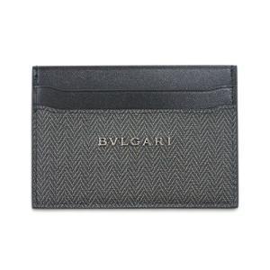 ブルガリ カードケース 32584 シンプル名刺入れ ウィークエンド SVロゴ コーティングキャンバス ブラック|come