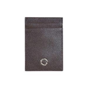 ブルガリ カードケース 33382 パスケース ブルガリブルガリ グレインカーフ ブラウン|come