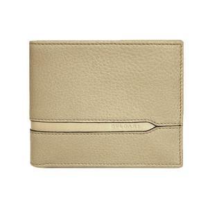ブルガリ 財布 37160 メンズ 横長 二つ折り札入れ BVLGARIロゴ カーフ ベージュ|come