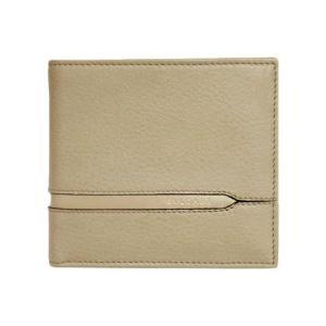 ブルガリ 財布 37161 メンズ 横長 二折り小銭付き財布 BVLGARIロゴ カーフ ベージュ|come