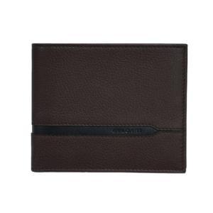 ブルガリ 財布 37859 メンズ 横長 二つ折り札入れ BVLGARIロゴ カーフ ダークブラウン/ブラウン|come