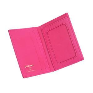 シャネル A82369 カードケース たて型 パスケース CC ココ クラシック マトラッセライン ピンク ゴールド金具|come|03