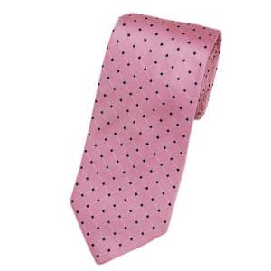 ヒューゴ・ボス ネクタイ ボス ジャガード  デザイン シルク100% ピンク/ネイビー/ホワイト 17012|come