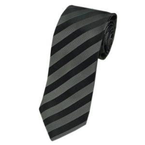 ヒューゴ・ボス ネクタイ HUGO BOSS ボス メンズ ジャガード ストライプ シルク100% ブラック/グレー 17017 アウトレット|come