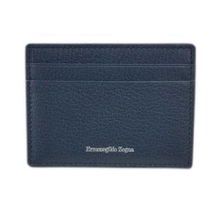 ゼニア 財布 E1072X エルメネジルド・ゼニア メンズ マネークリップ 札入れ カードケース レザー インディゴブルー アウトレット|come