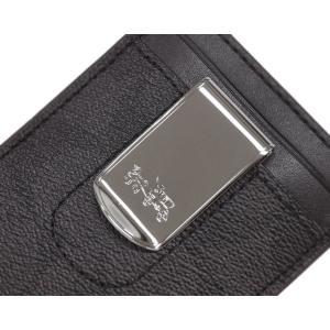 new concept 525cf 8a3cd コーチ カードケース F41344-NIOHM メンズ たて型 名刺入れ マネークリップ付き ボックスド 3-IN-1 シグネチャー ブラック  ブラック オックスブラッド