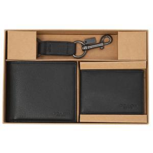 コーチ 財布 F64118-BLK メンズ 二つ折り 札入れ 取り外しカードケース スポーツ カーフレザー ブラック アウトレット|come