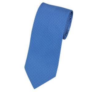 エルメス ネクタイ 659098T HERMES ソルド メンズ ジャガード デザイン H シルク100% ブルー/ホワイト|come