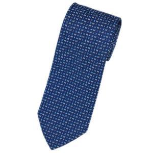 エルメス ネクタイ 659109T HERMES ソルド メンズ ジャガード デザイン H シルク100% ネイビー/ブルー/ターコイズブルー|come
