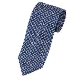 エルメス ネクタイ 659142T HERMES ソルド メンズ ジャガード デザイン シルク100% ネイビー/ブルー/ホワイト|come