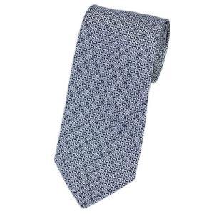 エルメス ネクタイ 659181T HERMES ソルド メンズ ジャガード デザイン シルク100% ネイビー/ホワイト|come