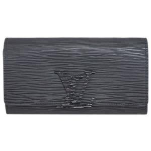 ルイヴィトン M60767 財布 ファスナー長札 エピ ノワール ブラック ポルトフォイユ・ルイーズ|come