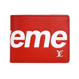 ルイヴィトン M67717 財布LOUIS VUITTON/Supreme シュプリーム コラボ LV エピ メンズ 二つ折り札入れ 小銭入れなし ポルトフォイユ・スレンダー|come