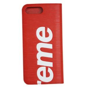 ルイヴィトン M67757 アクセサリー LOUIS VUITTON Supreme コラボ iPhoneケース カバー iPhone7+ ・フォリオ エピ iPhone7 Plus|come