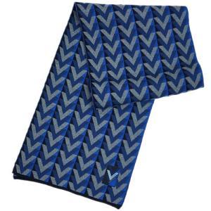 ルイヴィトン M70301 マフラー LV エシャルプ・Vオブセシオン ウール100% ブルー |come